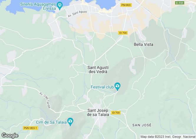 Map for Villa San Agustin, San Jose, Ibiza, Spain