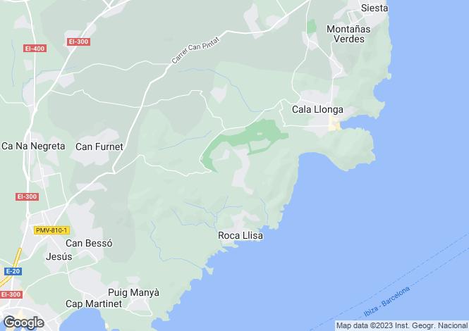 Map for Miragolf, Roca Lisa, Near Golf Club, Ibiza