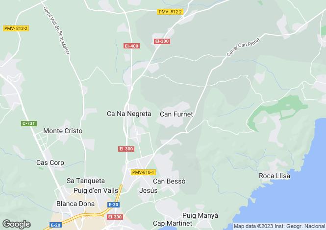 Map for Can Furnet, Santa Eulalia, Ibiza