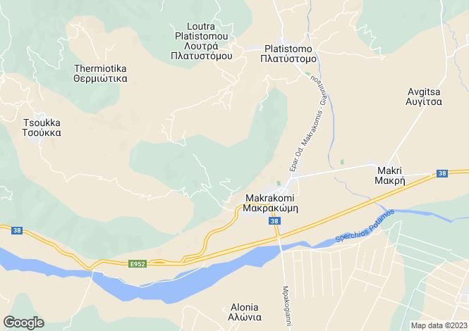 Map for Makrakomi, Phthiotis, Sterea Ellas