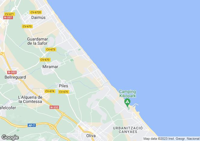 Map for Valencia, Valencia, Piles