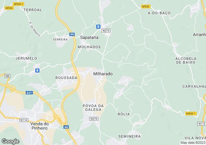 Map for Milharado, Mafra, Lisboa