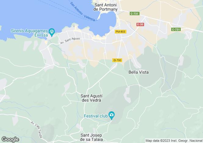 Map for Sant Josep De Sa Talaia, Ibiza, Balearic Islands