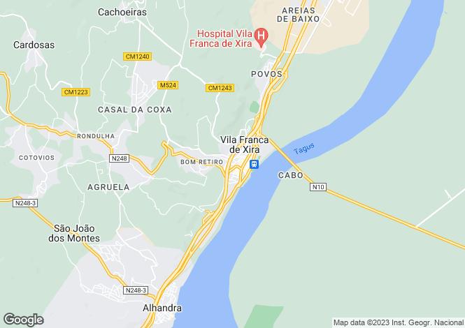 Map for Lisbon, Vila Franca de Xira