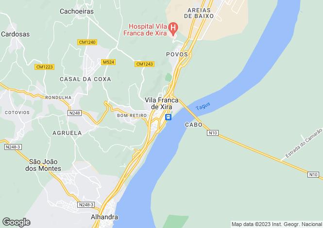 Map for Portugal,Lisboa,Vila Franca de Xira