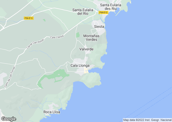 Map for Santa Eulària Des Riu, Ibiza, Balearic Islands