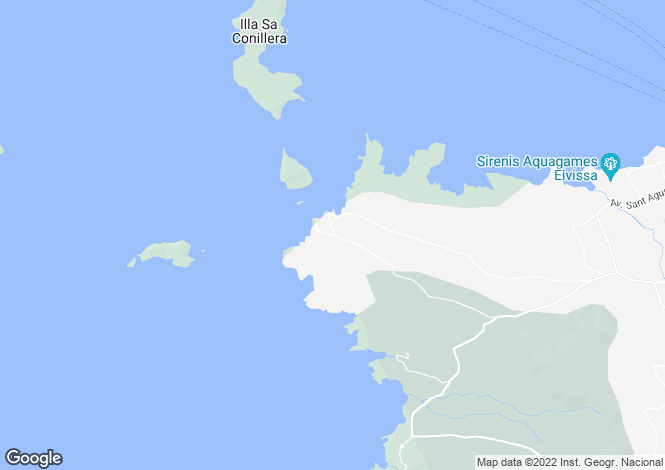 Map for Villa Christian, Cala Conta, Ibiza, Spain
