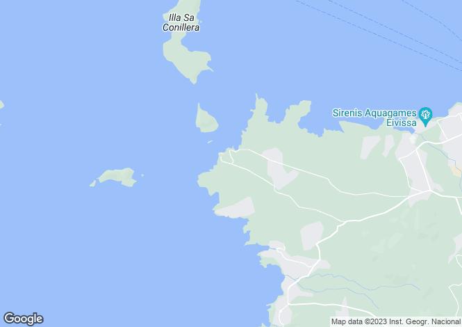 Map for Cala Comte, Ibiza Island, Spain