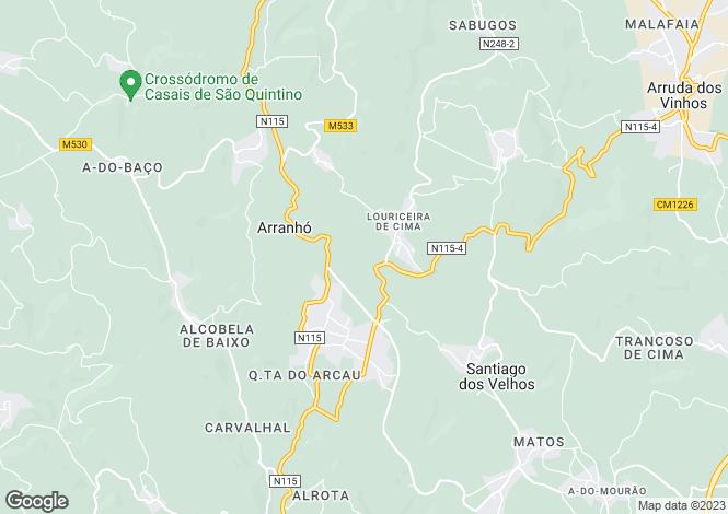 Map for Portugal,Lisboa,Arranhó