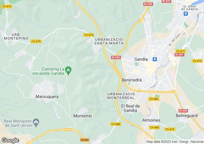 Map for Gandia, Spain