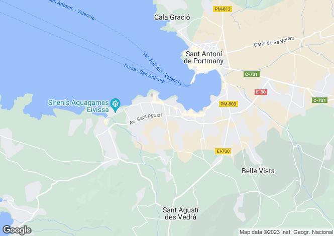 Map for Cala De Bou, Ibiza, Balearic Islands