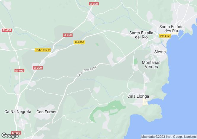 Map for Santa Eularia Des Riu, Ibiza