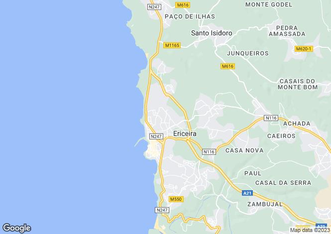 Map for Ericeira, Lisboa, Portugal