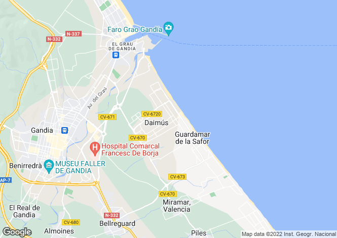 Map for Valencia, Valencia, Daimus