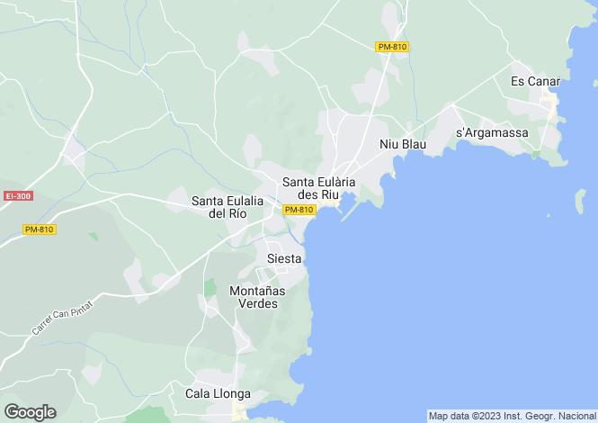 Map for Balearic Islands, Ibiza, Santa Eulària Des Riu