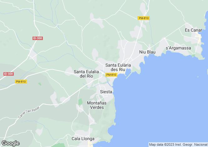 Map for Unique Finca, Santa Eulalia, Ibiza