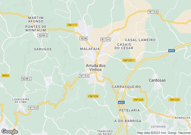 Map for Arruda dos Vinhos, Arruda dos Vinhos, Lisboa