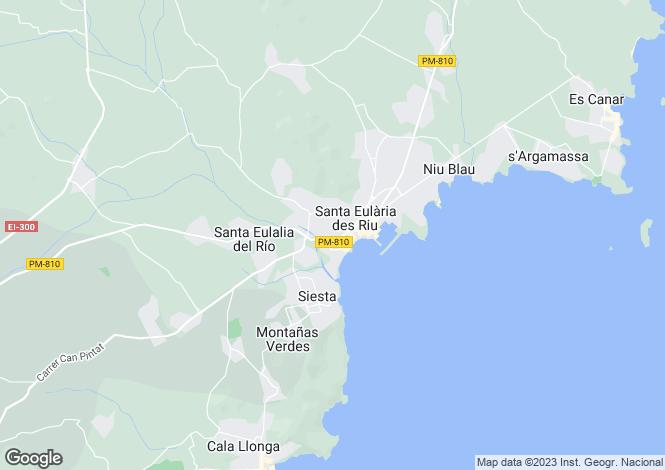Map for Balearic Islands, Ibiza, Jesus