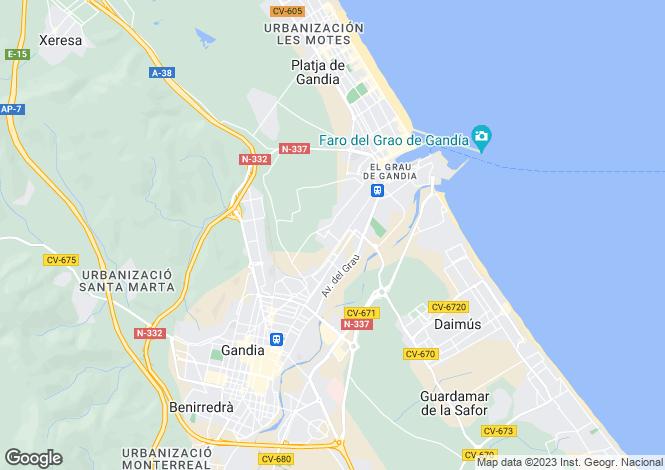 Map for Valencia, Valencia, Gandía
