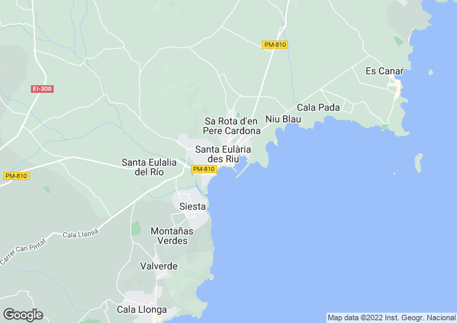 Map for Santa Eulalia, Ibiza, Spain