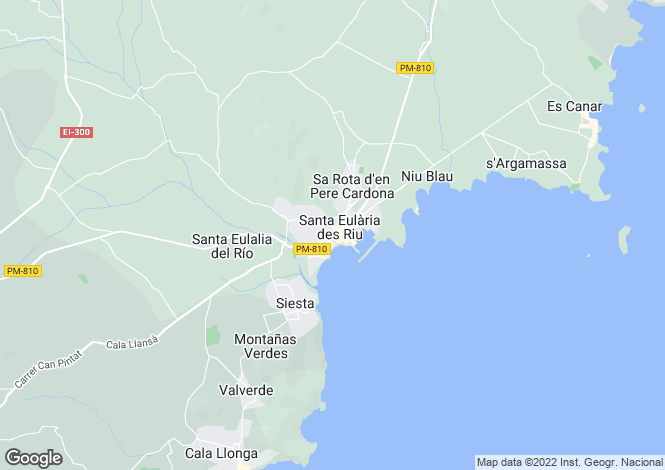 Map for Balearic Islands, Mallorca, Santa Eulalia del Río