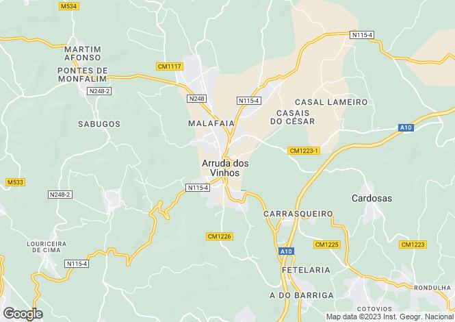 Map for Lisbon, Arruda dos Vinhos