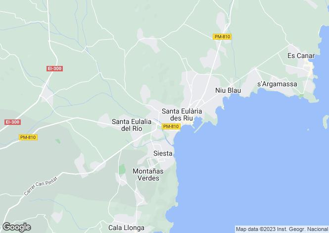 Map for Villa Sunny Sight, Can Furnet, Santa Eulalia,, Ibiza, Spain