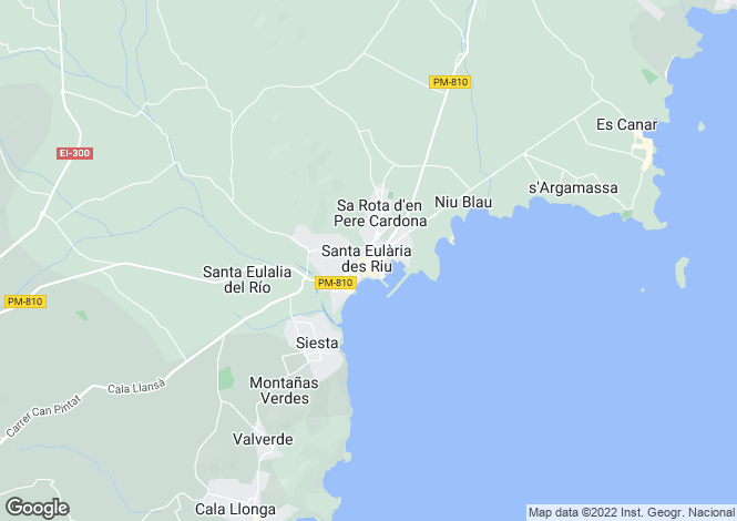 Map for Santa Eulària Des Riu, Cala Llonga, Ibiza, Balearics, Spain