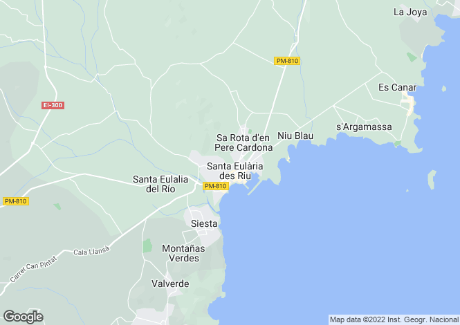 Map for Villa In Exclusive Communinity, Santa Eulalia, Ibiza