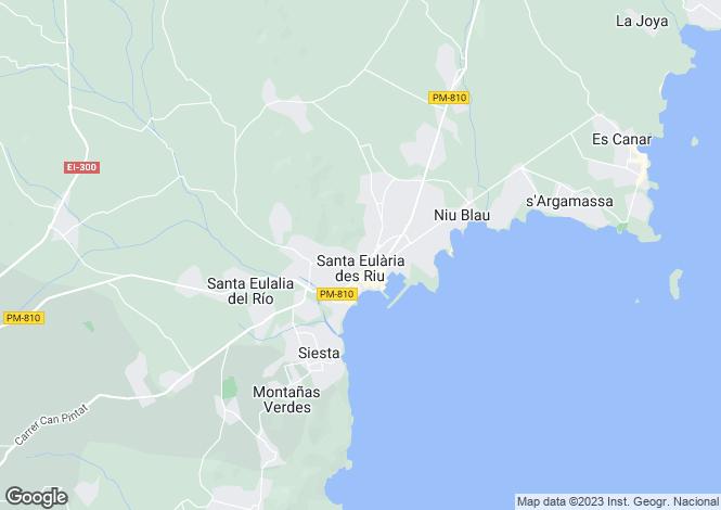 Map for Finca Victoria, Santa Eularia, Ibiza, Balearic Islands