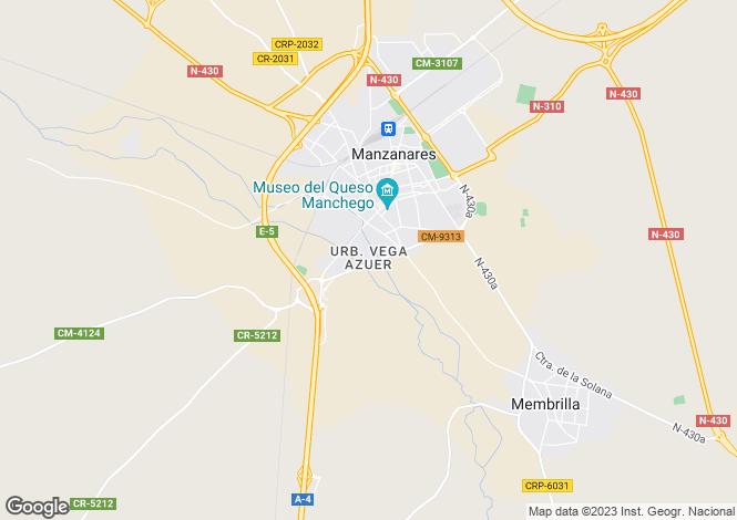 Map for Castile-La Mancha, Ciudad Real, Manzanares