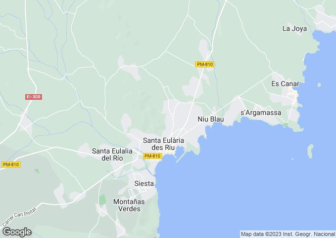 Map for Santa Eulalia, Ibiza