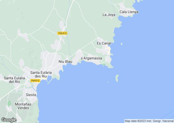 Map for Santa Eulalia Del Rio, Spain