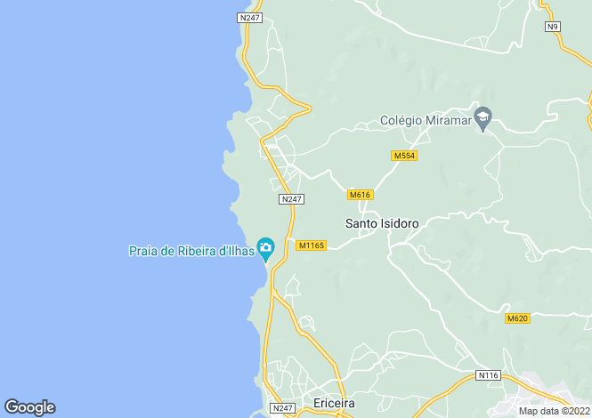 Map for Ericeira, Lisboa, Portugal