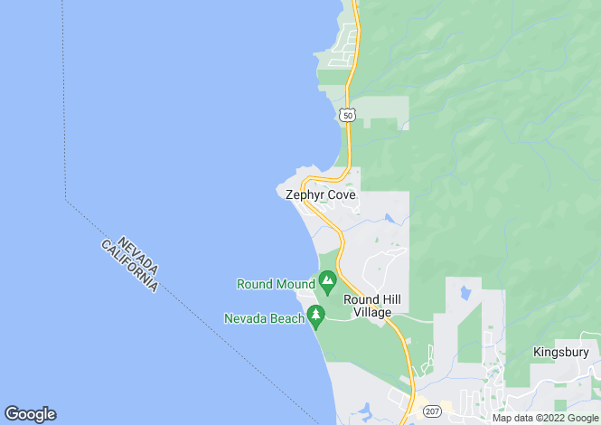 Map for Nevada, Douglas County, Zephyr Cove