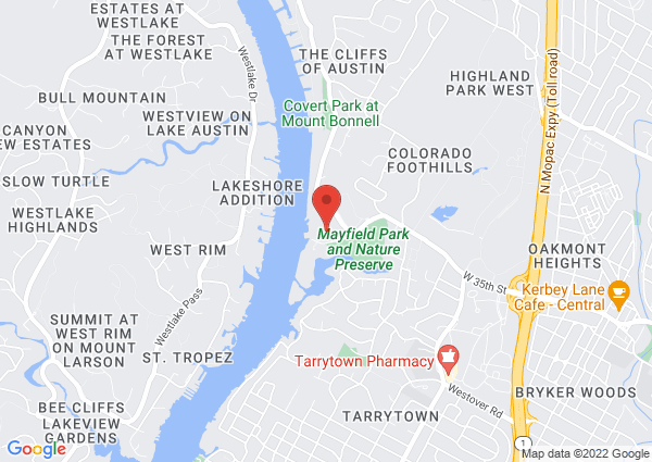 Map of 3808 West 35th Street, Austin, TX 78703