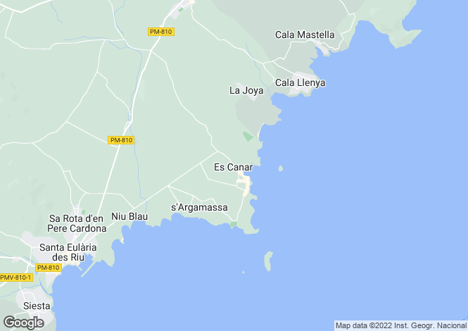 Map for Santa Eulalia, Ibiza, Balearic Islands