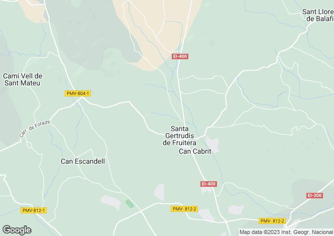 Map for Designer New Villa, Santa Gertrudis, Ibiza