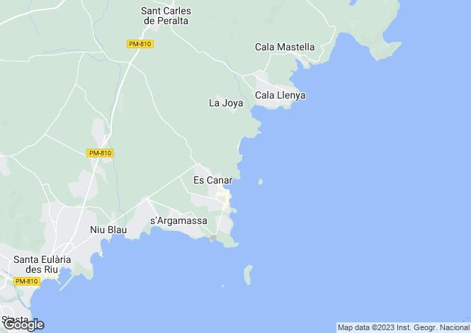 Map for Es Canar, Ibiza, Balearic Islands