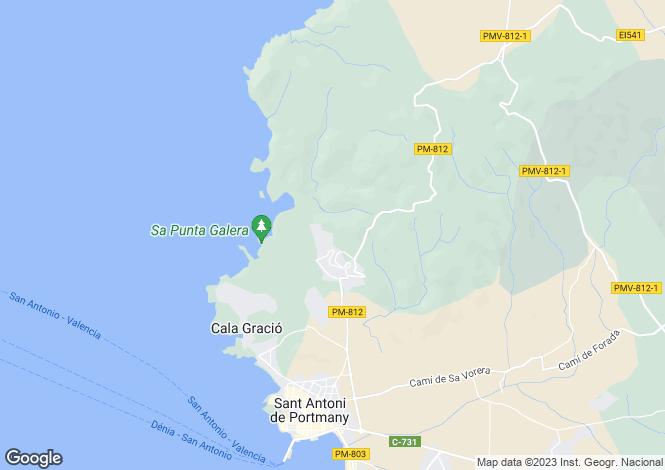 Map for San Antonio Abad, Ibiza, Balearic Islands