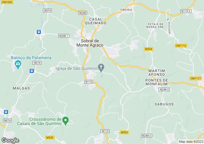 Map for Portugal,Lisboa,Sobral de Monte Agraço