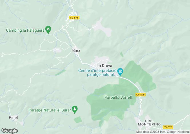 Map for La Drova, Valencia, Valencia