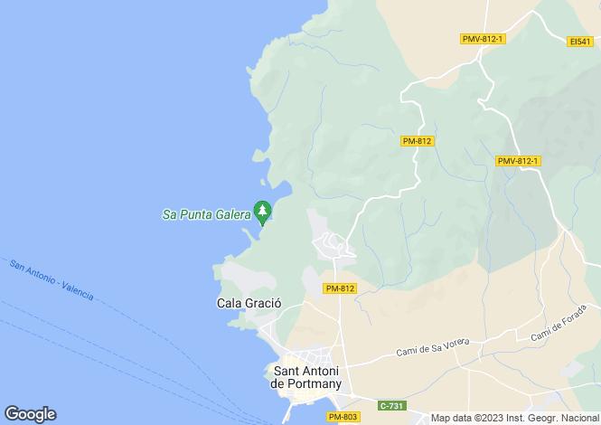 Map for Balearic Islands, Ibiza, Sant Antoni de Portmany
