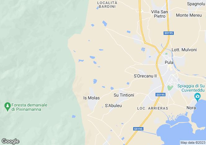 Map for Santa Margherita di Pula, Cagliari, Italy