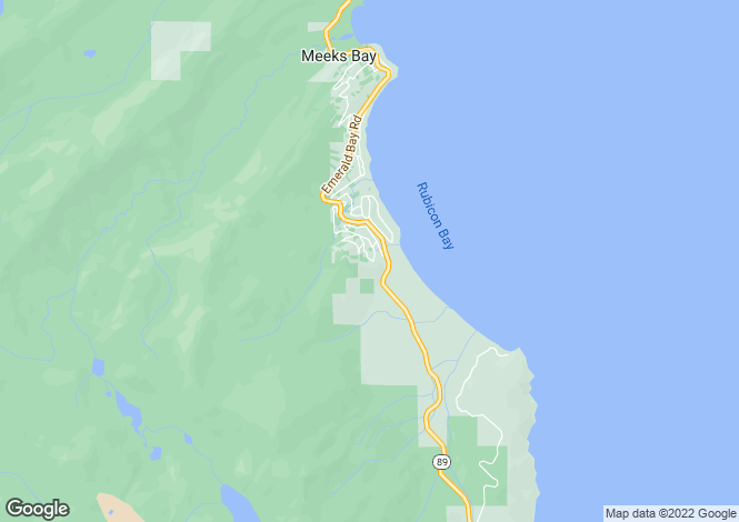 Map for California, Tahoma