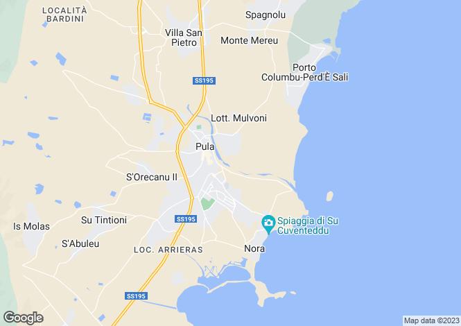 Map for Santa Margherita di Pula,Italy