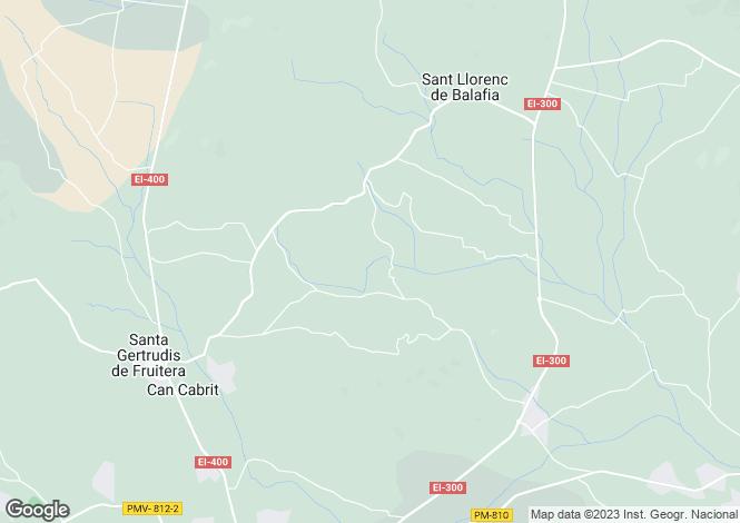 Map for Santa Gertrudis De Fruitera, Ibiza, Balearic Islands