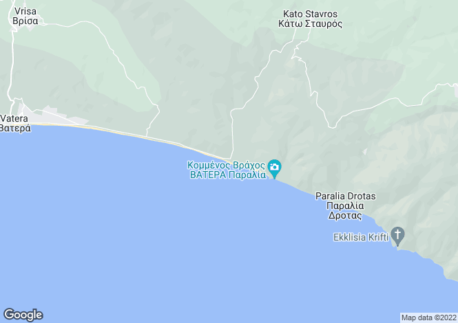 Map for Northern Aegean islands, Lesbos, Stavros