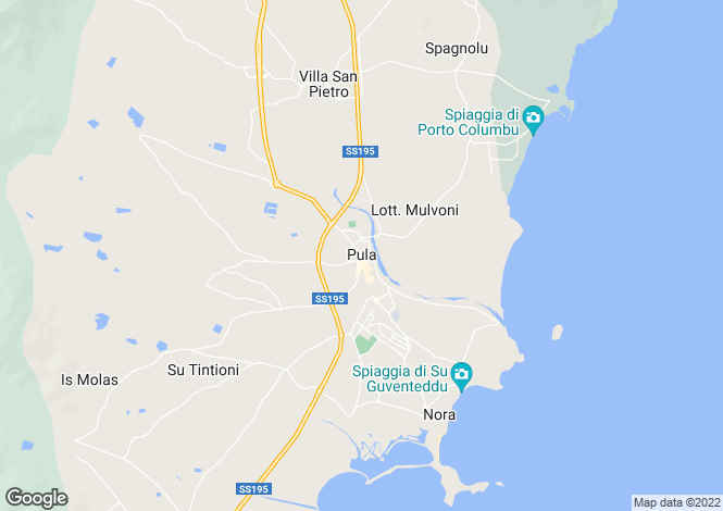 Map for Villa Golf, Pula, Sardinia