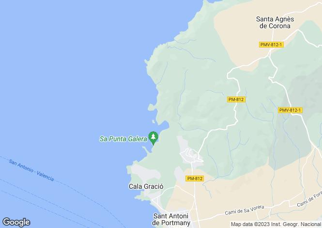 Map for Old Ibizan Jewel With Open Sea View, Cala Salada, Ibiza